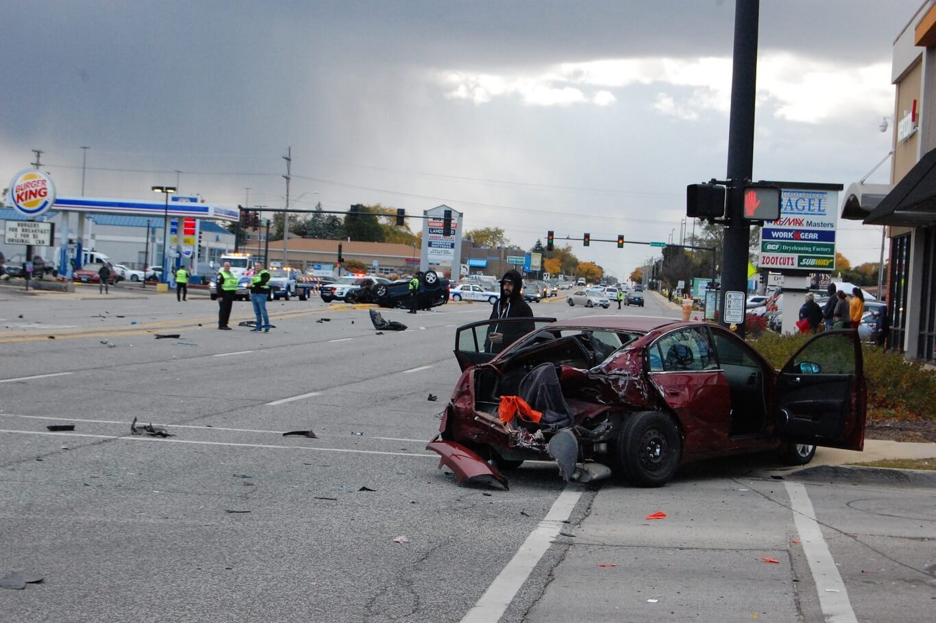 when does car insurance go down after accident