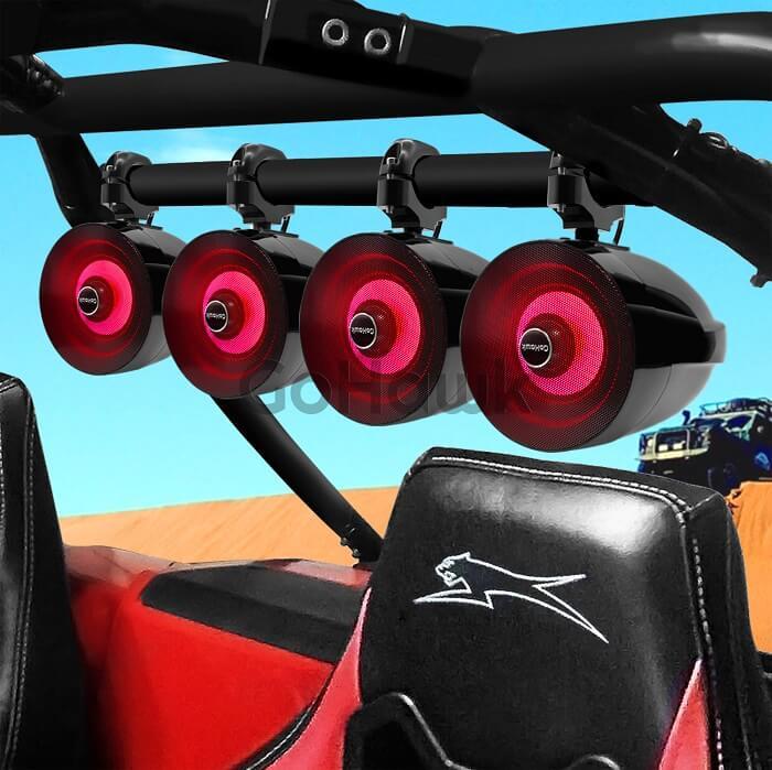 ATV speakers in car