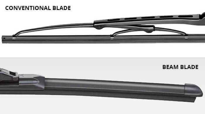 Conventional wiper blades