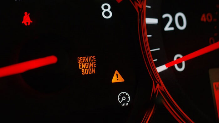 What is the warning behind the service engine soon light