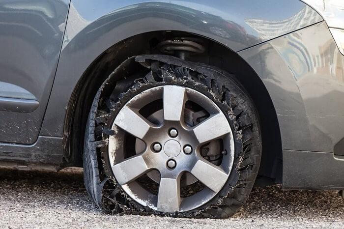 Accident bumps near the wheel area