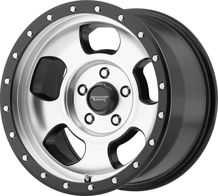 American Racing Off-road wheel with machined finish