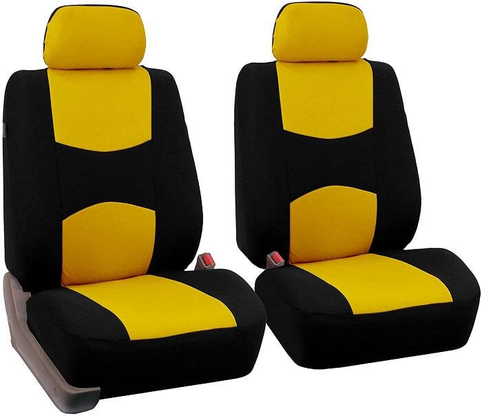 FH Group Universal Flat Cloth Pair Bucket Seat Cover