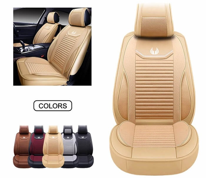 OASIS AUTO Faux Leather Car Seat Cover