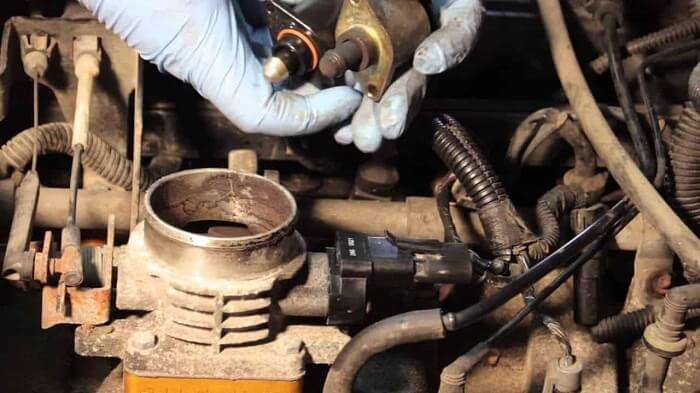 The idle speed becomes irregular