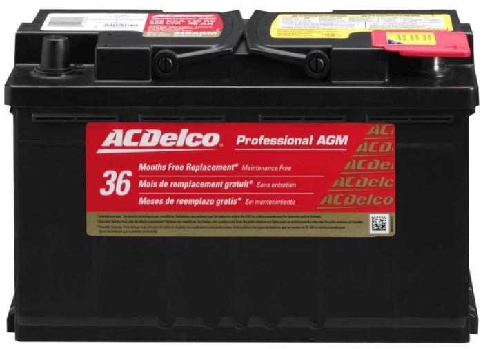 ACDelco 94RAGM Professional Automotive Battery
