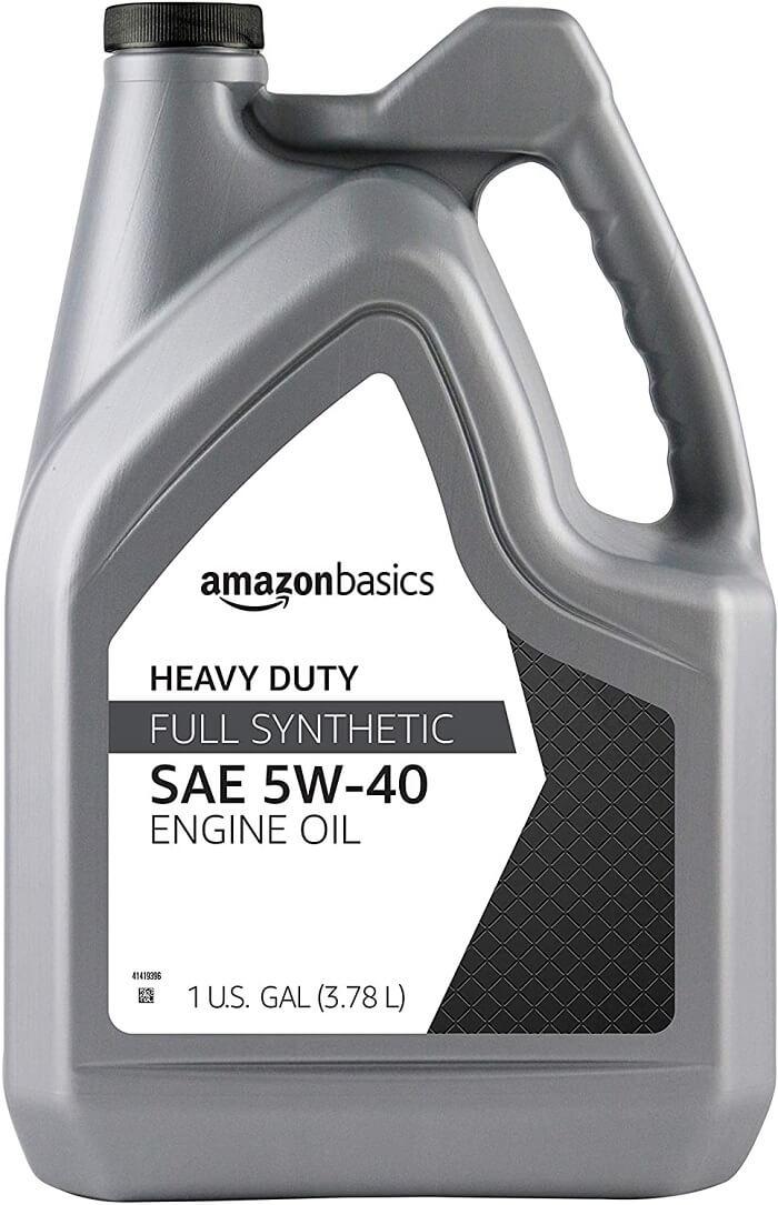 AmazonBasics High Mileage 5W-40 Synthetic Motor Oil – for Duramax Engine I5p