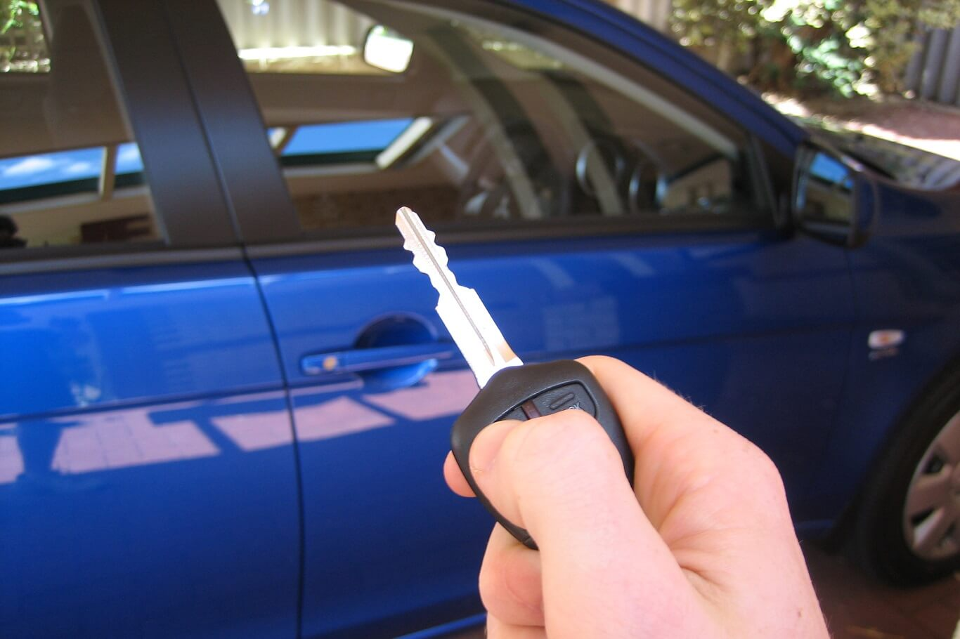 How to open a stuck car door.