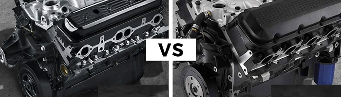 Let's understand the difference between a big block and a small block v8