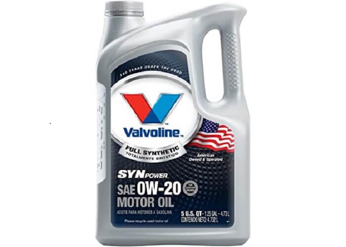 Valvoline SynPower full synthetic motor oil.