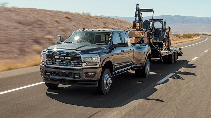 Hauling and towing truck