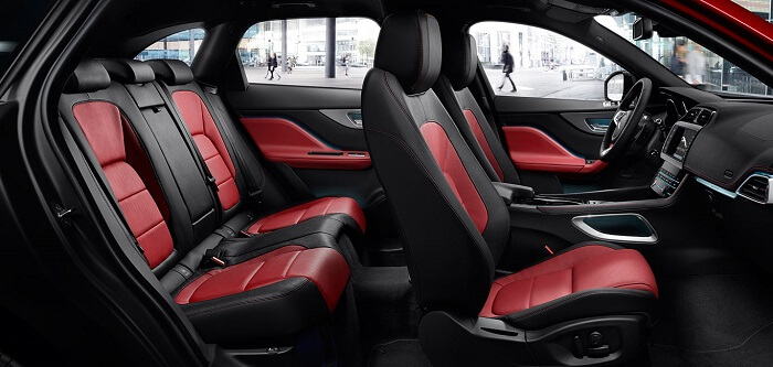 2018 Jaguar F-Pace seat