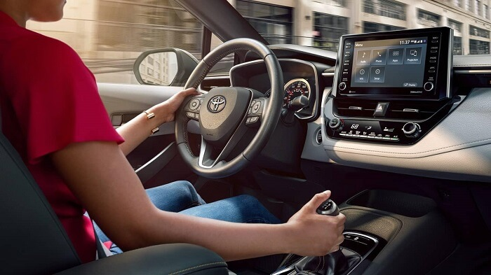 Corolla hybrid driving