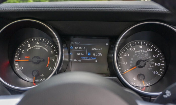 Ecoboost Mustang of 2020 dashboard