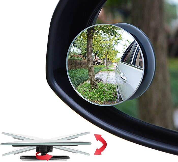 Ampper 2-inch Round Square Blind spot mirrors