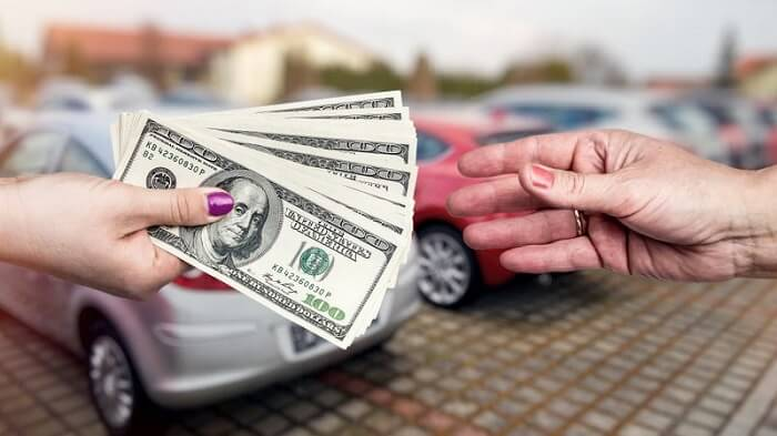 Give away the car and receive the money