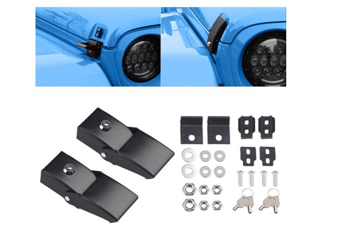Sukemichi JL Hood Latch kit for 2018-2021 Jeeps