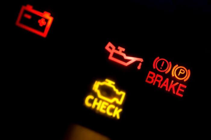 check engine light turns on suddenly