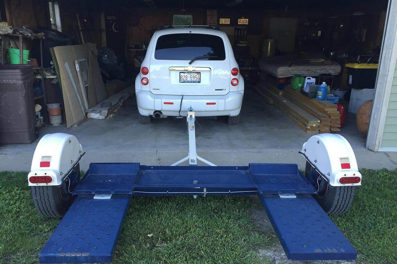 How to load a non running car on a tow dolly